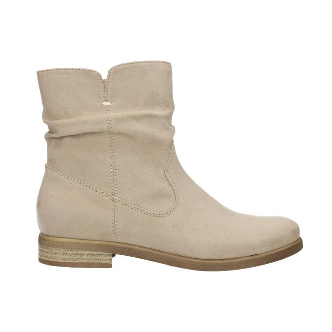 Dámske členkové čižmy bata, béžová, 599-8614 - 15