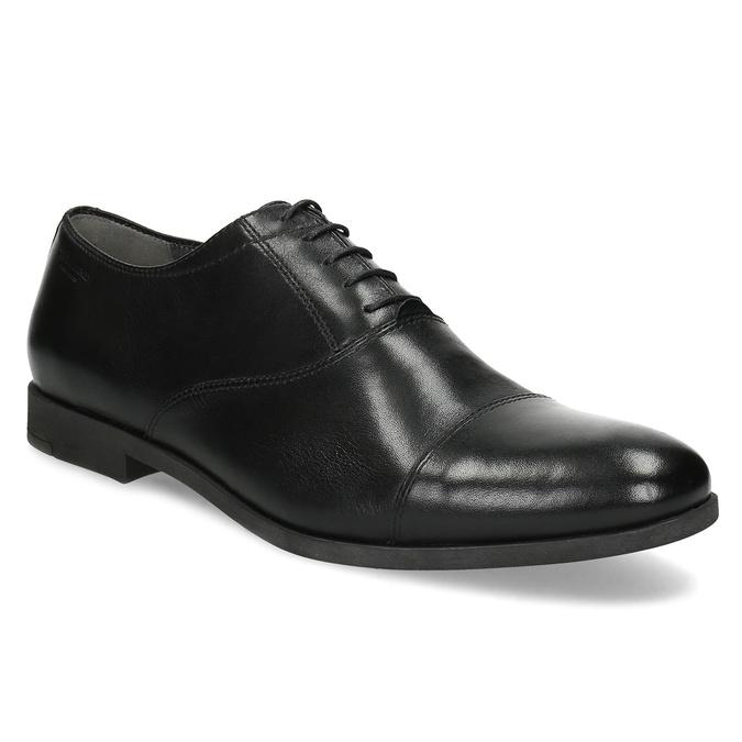 Čierne kožené Oxford poltopánky vagabond, čierna, 824-6048 - 13