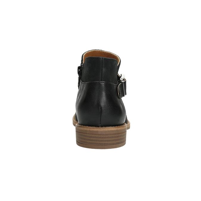 Kožená členková obuv so sponou bata, čierna, 596-6634 - 17