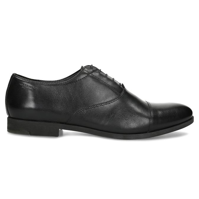 Čierne kožené Oxford poltopánky vagabond, čierna, 824-6048 - 19