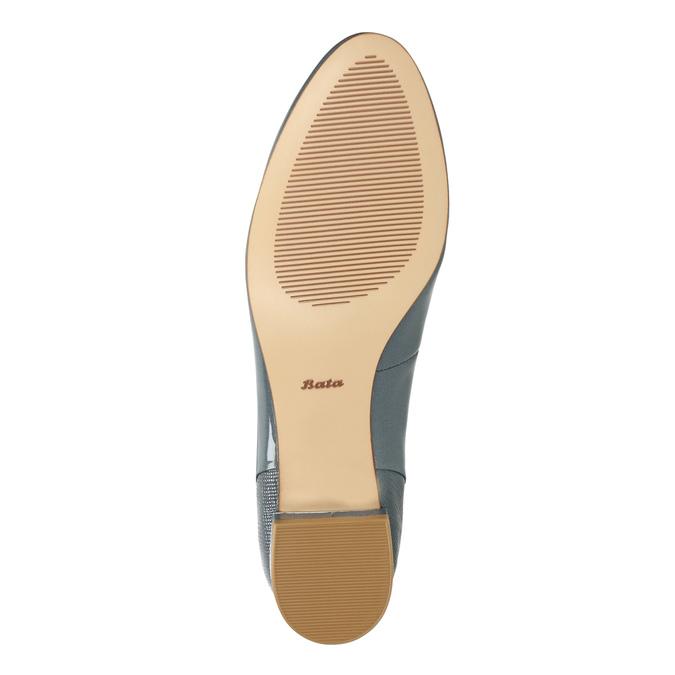 Kožená dámska obuv v štýle Loafers bata, modrá, 518-9600 - 26