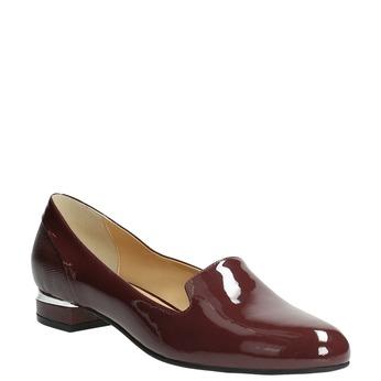 Lakované dámske Loafers bata, červená, 518-5600 - 13