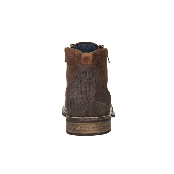 Kožené členkové tenisky so zipsom bata, hnedá, 894-3684 - 17