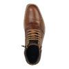 Kožené členkové tenisky so zipsom bata, hnedá, 894-3684 - 19