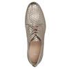 Kožené poltopánky s motívom šupín bata, zlatá, 526-8627 - 19