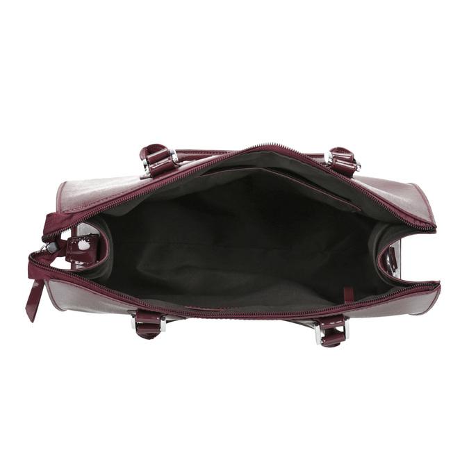 Vínová kabelka s pevnými rúčkami bata, červená, 961-5740 - 15