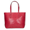 Červená kabelka v Shopper štýle bata, červená, 961-5699 - 19