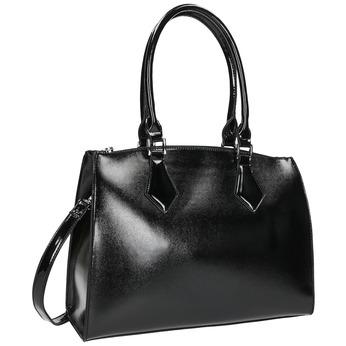 Dámska kabelka s pevnými rúčkami bata, čierna, 961-6740 - 13