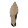 Kožené lodičky v štýle Sling-back pillow-padding, čierna, 624-6638 - 26