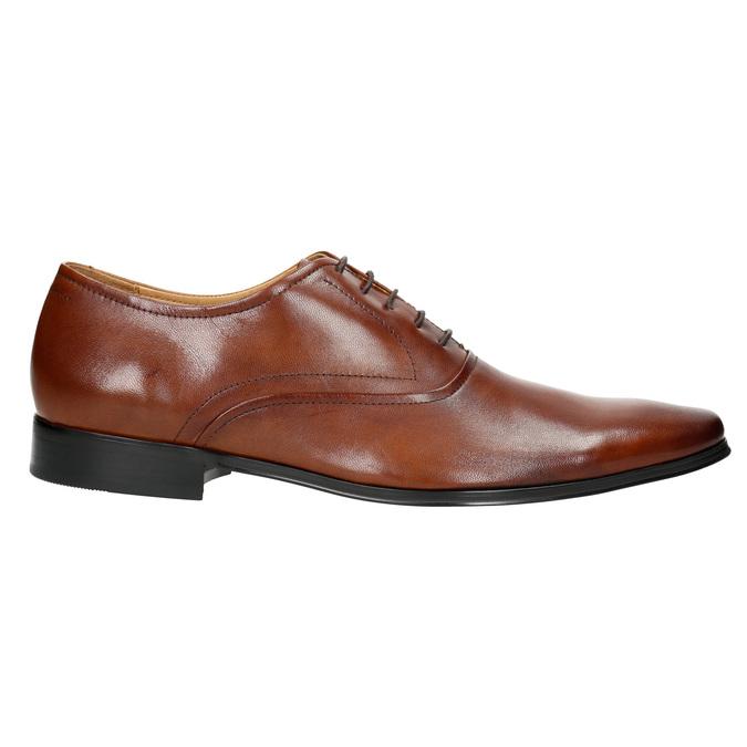 Hnedé kožené Oxford poltopánky bata, hnedá, 826-3819 - 15
