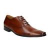 Hnedé kožené Oxford poltopánky bata, hnedá, 826-3819 - 13