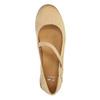 Dámske kožené baleríny bata, béžová, 526-8620 - 19