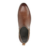 Kožené členkové Chelsea Boots s perforáciou bata, hnedá, 596-4644 - 19