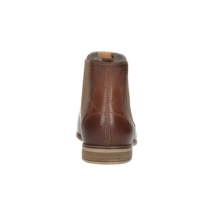 Kožené členkové Chelsea Boots s perforáciou bata, hnedá, 596-4644 - 17