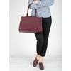Vínová kabelka s pevnými rúčkami bata, červená, 961-5740 - 17