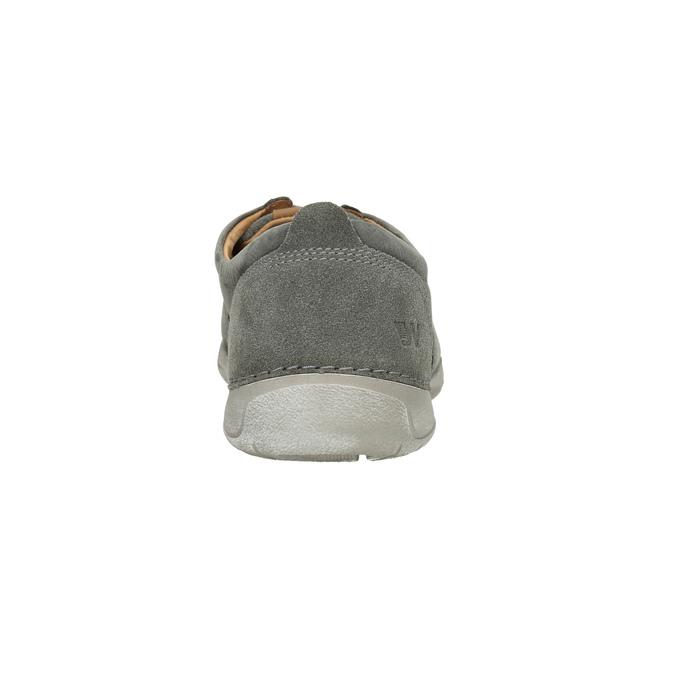 Ležérne kožené poltopánky weinbrenner, šedá, 846-2631 - 17