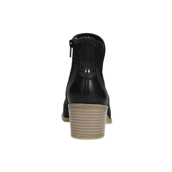 Kožené dámske jarné čižmy bata, čierna, 696-6643 - 17