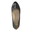 Lodičky s guľatou špičkou pillow-padding, čierna, 624-6637 - 19