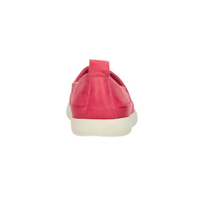 Kožená obuv s perforáciou bata-light, ružová, 516-5601 - 17