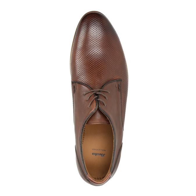 Ležérne kožené poltopánky hnedé bata, hnedá, 826-4807 - 19
