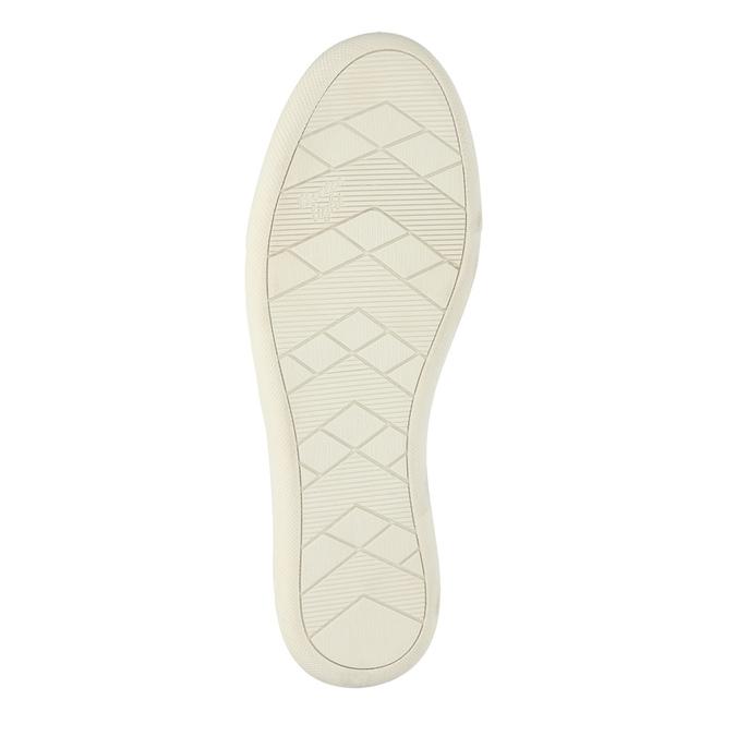 Kožená obuv s perforáciou bata-light, ružová, 516-5601 - 26