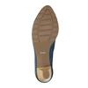 Dámske kožené lodičky bata, modrá, 626-9639 - 26