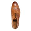 Kožené poltopánky s Brogue zdobením bata, hnedá, 826-3795 - 19