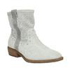 Kožené členkové čižmy bata, šedá, 596-2653 - 13