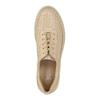 Dámske kožené tenisky s perforáciou bata, béžová, 526-8618 - 19