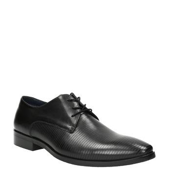 Čierne kožené Derby poltopánky bata, čierna, 826-6804 - 13