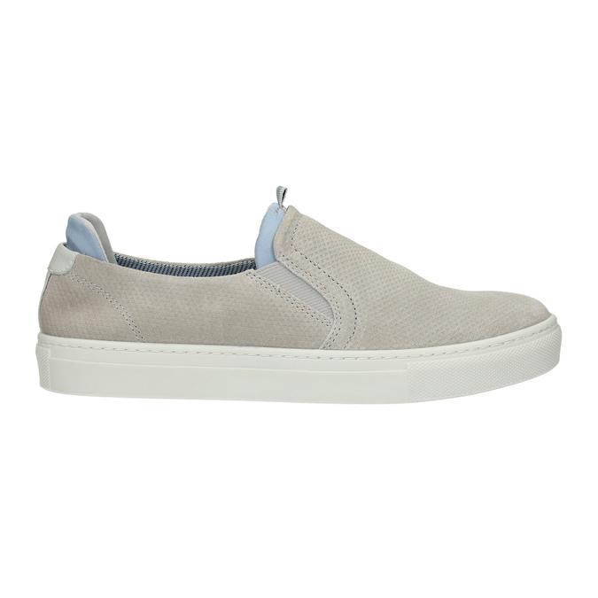 Dámska kožená Slip-on obuv bata, šedá, 516-2600 - 15
