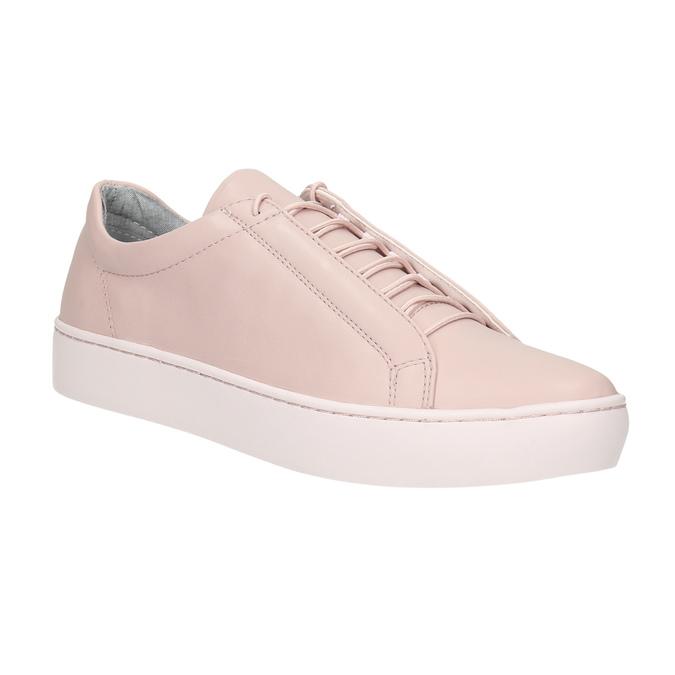 Ružové kožené tenisky vagabond, ružová, 624-8019 - 13