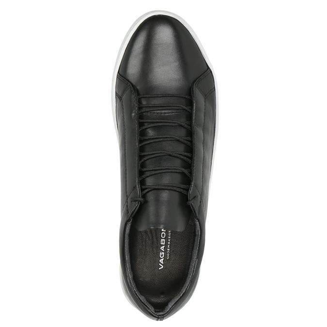 Dámske kožené tenisky vagabond, čierna, 624-6019 - 19