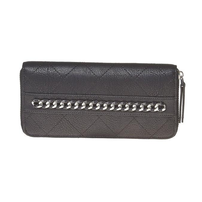 Peňaženka s prešívaním a retiazkou bata, čierna, 941-6146 - 17