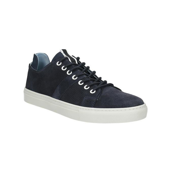 Kožené tenisky s perforáciou bata, modrá, 843-9621 - 13