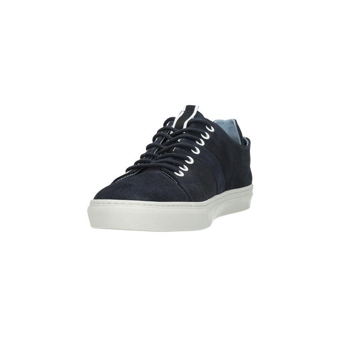 Kožené tenisky s perforáciou bata, modrá, 843-9621 - 18
