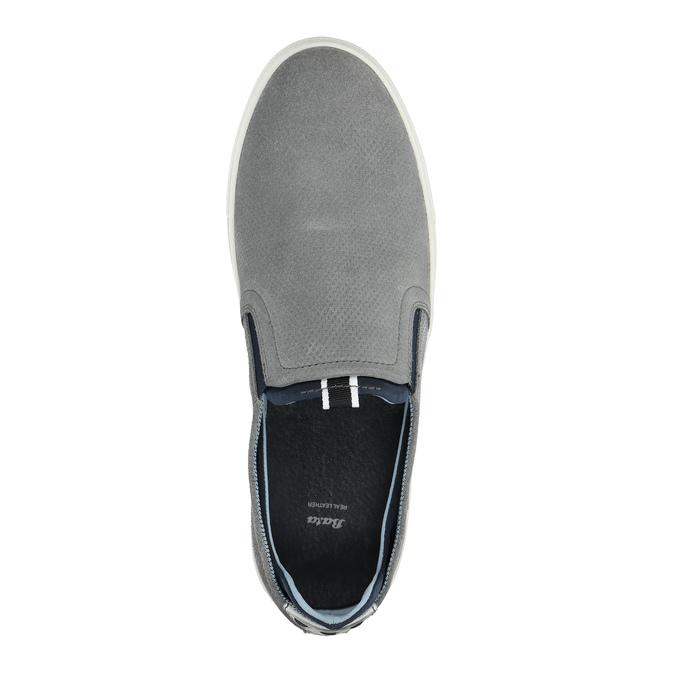Kožené šedé Slip-on topánky bata, šedá, 833-2600 - 19