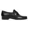 Kožená pánska Loafers obuv bata, čierna, 814-6621 - 15