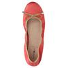 Červené baleríny s pružným lemom bata, červená, 526-5617 - 19