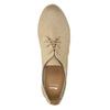 Kožené poltopánky s perforáciou bata, béžová, 526-8619 - 19