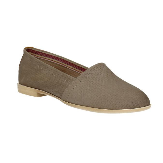 Dámska kožená Slip-on obuv bata, hnedá, 516-2602 - 13