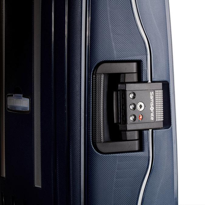 Kvalitný škrupinový kufor samsonite, modrá, 960-9321 - 19