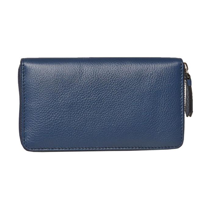 Dámska kožená peňaženka modrá bata, modrá, 944-9178 - 26