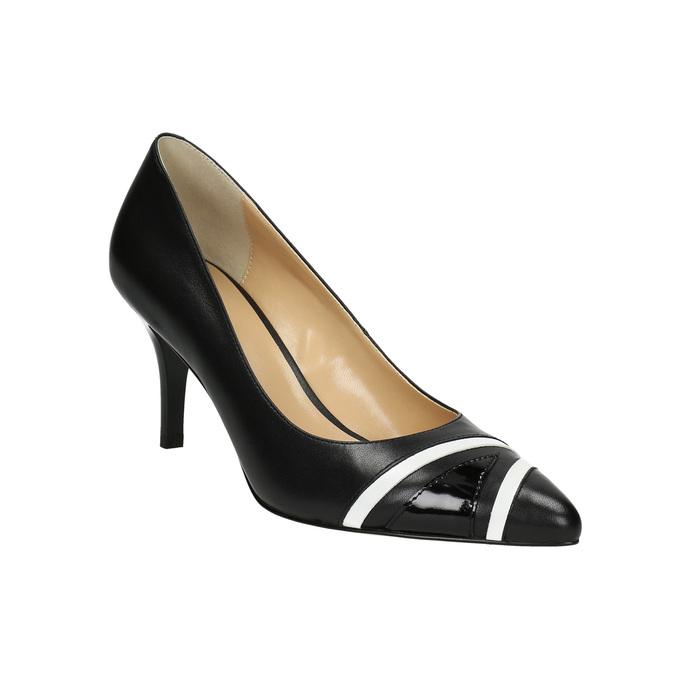 Elegantné dámske lodičky bata, čierna, 624-6633 - 13