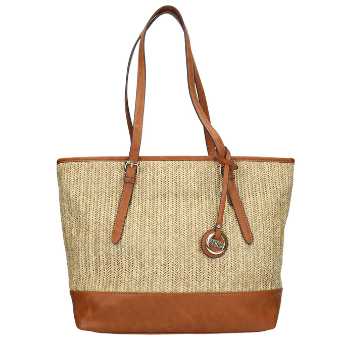 Shopper kabelka s pleteným vzorom gabor-bags, béžová, 961-8073 - 26