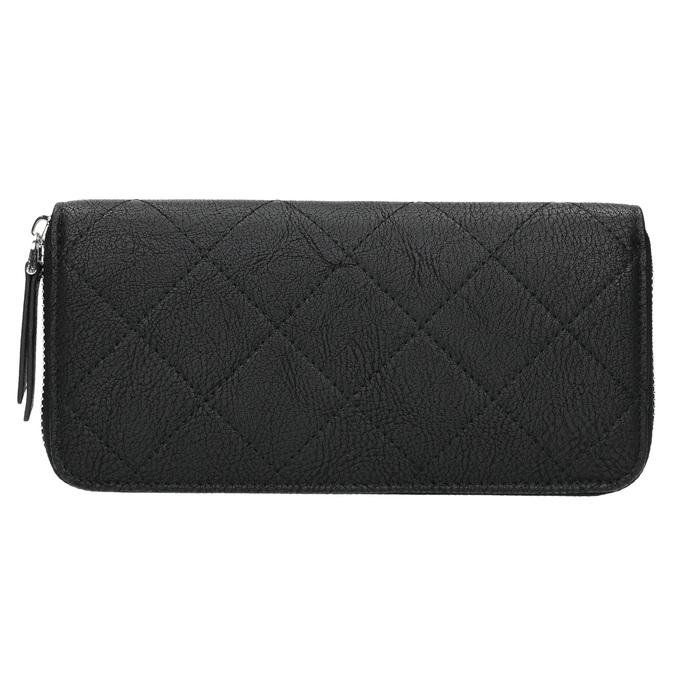 Peňaženka s prešívaním a retiazkou bata, čierna, 941-6146 - 19