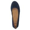 Kožené lodičky šírky H bata, modrá, 623-9601 - 19