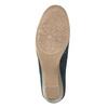 Dámske kožené mokasíny šírky H bata, modrá, 523-9603 - 26