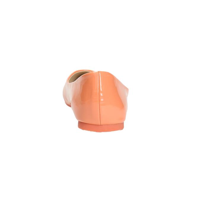 Dámske baleríny bata, oranžová, 521-8602 - 17