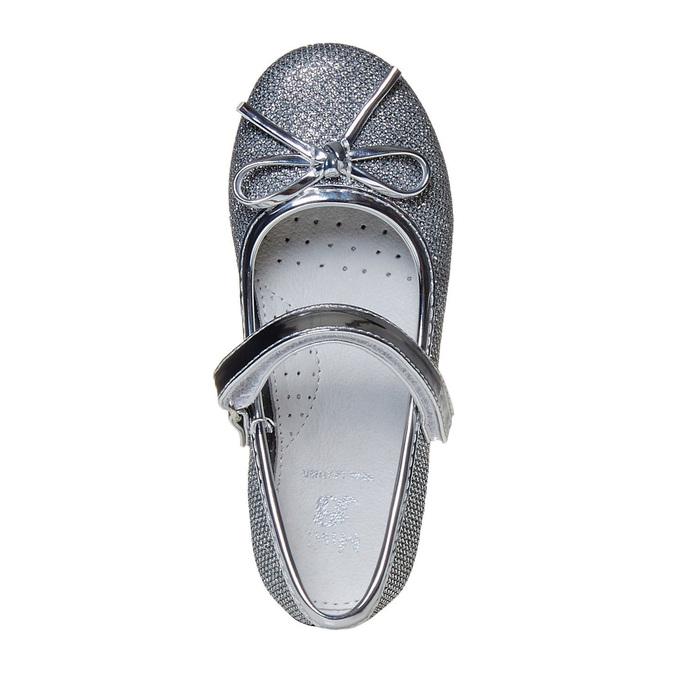 Strieborné dievčenské baleríny mini-b, strieborná, 229-2178 - 19